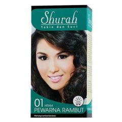 SHURAH PEWARNA RAMBUT 01-HITAM 40G