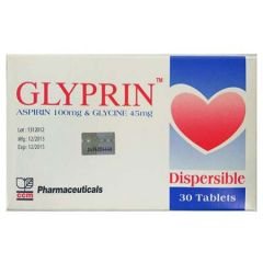GLYPRIN ASPIRIN 100MG & GLYCINE 45MG TABLET 30S