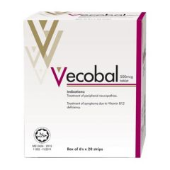 VECOBAL 500MCG TABLET 6S X 20