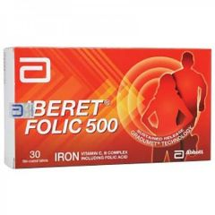 IBERET FOLIC 500 FOR ANEMIA TABLET 30S