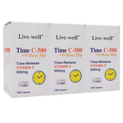 LIVE-WELL TIME C-500 VITAMIN C WITH ROSE HIP TABLET 150S X 2 + 150S