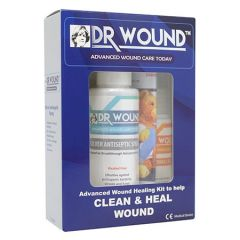 DR WOUND ADVANCED WOUND HEALING KIT - SILVOSEPT SPRAY 50ML + CHITO HEALGEL 20ML