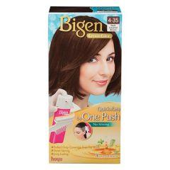 BIGEN ONE PUSH HAIR COLOR 4-35 DARK CARAMEL BROWN 1S