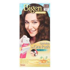 BIGEN ONE PUSH HAIR COLOR 6-45 MAHOGANY COPPER BROWN 1S