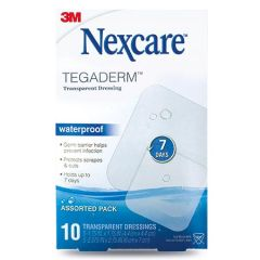3M NEXCARE TEGADERM WATERPROOF TRANSPARENT DRESSING 10S