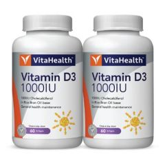 VITAHEALTH VITAMIN D3 1000IU SOFTGEL 60S X 2