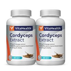 VITAHEALTH CORDYCEPS EXTRACT VEGETABLE CAPSULE 60S X 2