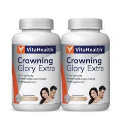 VITAHEALTH CROWNING GLORY EXTRA SOFTGEL 90S X 2