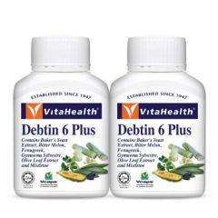 VITAHEALTH DEBTIN 6 PLUS VEGETABLE CAPSULE 60S X 2