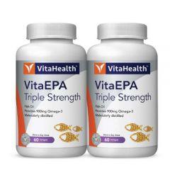 VITAHEALTH VITAEPA TRIPLE STRENGTH SOFTGEL 60S X 2