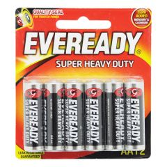 EVEREADY SUPER HEAVY DUTY AA BATTERY 12S