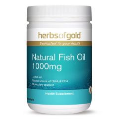 HERBS OF GOLD NATURAL FISH OIL 1000MG SOFTGEL 300S