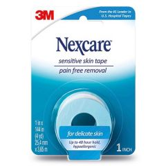 "3M NEXCARE SENSITIVE SKIN LOW TRAUMA TAPE 1"" X 144"" (4YD)"