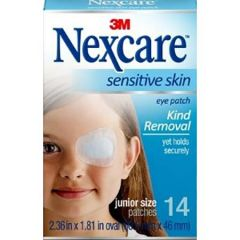 3M NEXCARE SENSITIVE SKIN EYE PATCH FOR JUNIOR 14S