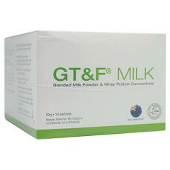 GT&F BLENDED MILK POWDER & WHEY PROTEIN CONCENTRATE SACHET 20G X 15S