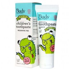 BUDS CHILDRENS TOOTHPASTE WITH XYLITOL GREEN APPLE 50ML