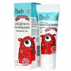 BUDS CHILDRENS TOOTHPASTE WITH XYLITOL STRAWBERRY 50ML