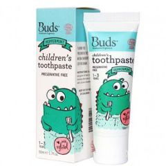 BUDS CHILDRENS TOOTHPASTE WITH XYLITOL PEPPERMINT 50ML