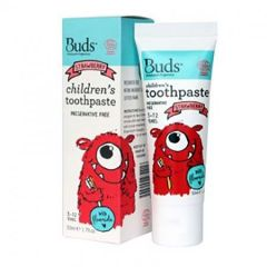 BUDS CHILDRENS TOOTHPASTE WITH FLUORIDE STRAWBERRY 50ML