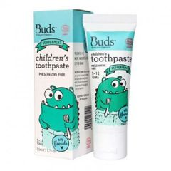 BUDS CHILDRENS TOOTHPASTE WITH FLUORIDE PEPPERMINT 50ML
