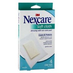 3M NEXCARE SOFT CLOTH DRESSING 4S (8CM X 12CM)