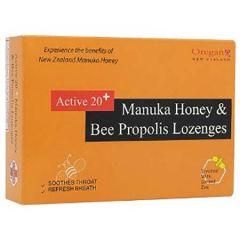 OREGAN ACTIVE 20+MANUKA HONEY& BEE PROPOLIS DROPS 12s