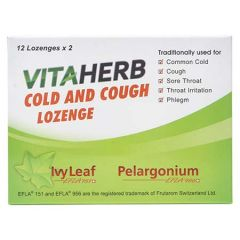 VITAHERB COLD AND COUGH LOZENGE 12S X 2