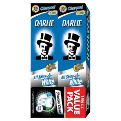 DARLIE ALL SHINY WHITE CHARCOAL CLEAN TOOTHPASTE 140G X 2
