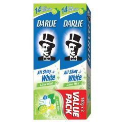 DARLIE ALL SHINY WHITE LIME MINT TOOTHPASTE 140G X 2