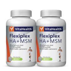 VITAHEALTH FLEXIPLEX HYALURONIC ACID 60MG +MSM 500MG VEGETABLE CAPSULE 60SX2