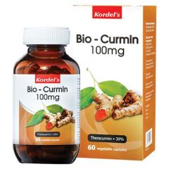 KORDELS BIO-CURMIN 100MG VEGETABLE CAPSULE 60S