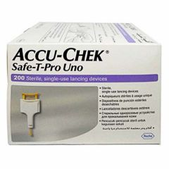ACCU-CHEK SAFE-T-PRO UNO SINGLE USE LANCING DEVICE 200S