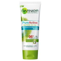 GARNIER PURE ACTIVE MATCHA DE-TOX POLLUTION & OIL DEEP CLEAN FOAM 100ML
