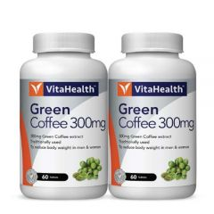 VITAHEALTH GREEN COFFEE 300MG TABLET 60S X 2