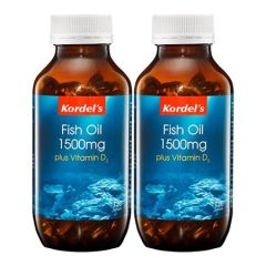 KORDELS FISH OIL 1500MG + VITAMIN D3 SOFTGEL 120S X 2
