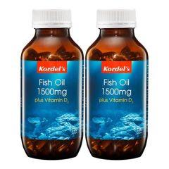 KORDELS FISH OIL 1500MG + VITAMIN D3 SOFTGEL 120S X 2
