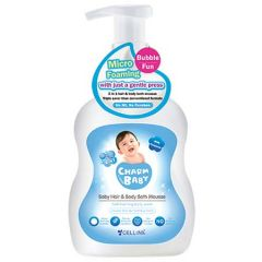 CHARM BABY BABY HAIR & BODY BATH MOUSSE 500ML