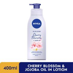 NIVEA BODY OIL IN LOTION CHERRY BLOSSOM & JOJOBA OIL 400ML