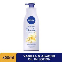 NIVEA BODY OIL IN LOTION VANILLA & ALMOND OIL 400ML