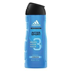 ADIDAS AFTER SPORT 3 IN 1 BODY, HAIR & FACE SHOWER GEL FOR HIM 400ML