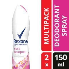 REXONA WOMEN SPRAY SEXY BOUQUET 150ML X 2