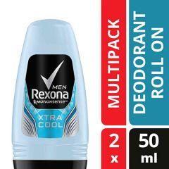 REXONA MEN DEODORANT ROLL ON MOTIONSENSE XTRA COOL TWIN PACK 50ML X 2