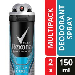 REXONA MEN DEODORANT MOTIONSENSE XTRA COOL SPRAY 150ML X 2