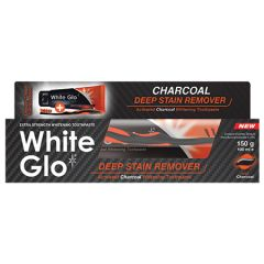 WHITE GLO CHARCOAL DEEP STAIN REMOVER TOOTHPASTE 150G