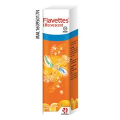 FLAVETTES VITAMIN C + ZINC ORANGE EFFERVESCENT TABLET 15S