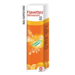FLAVETTES VITAMIN C 1000MG ORANGE EFFERVESCENT TABLET 15S