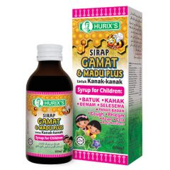 HURIXS CHILDREN GAMAT & MADU PLUS COUGH SYRUP 60ML