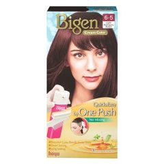 BIGEN ONE PUSH HAIR COLOR 6-5 LIGHT MAHOGANY BROWN 1S
