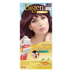 BIGEN ONE PUSH HAIR COLOR 5-26 BURGUNDY BROWN 1S