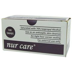 NUR CARE ALCOHOL SWAB 100S